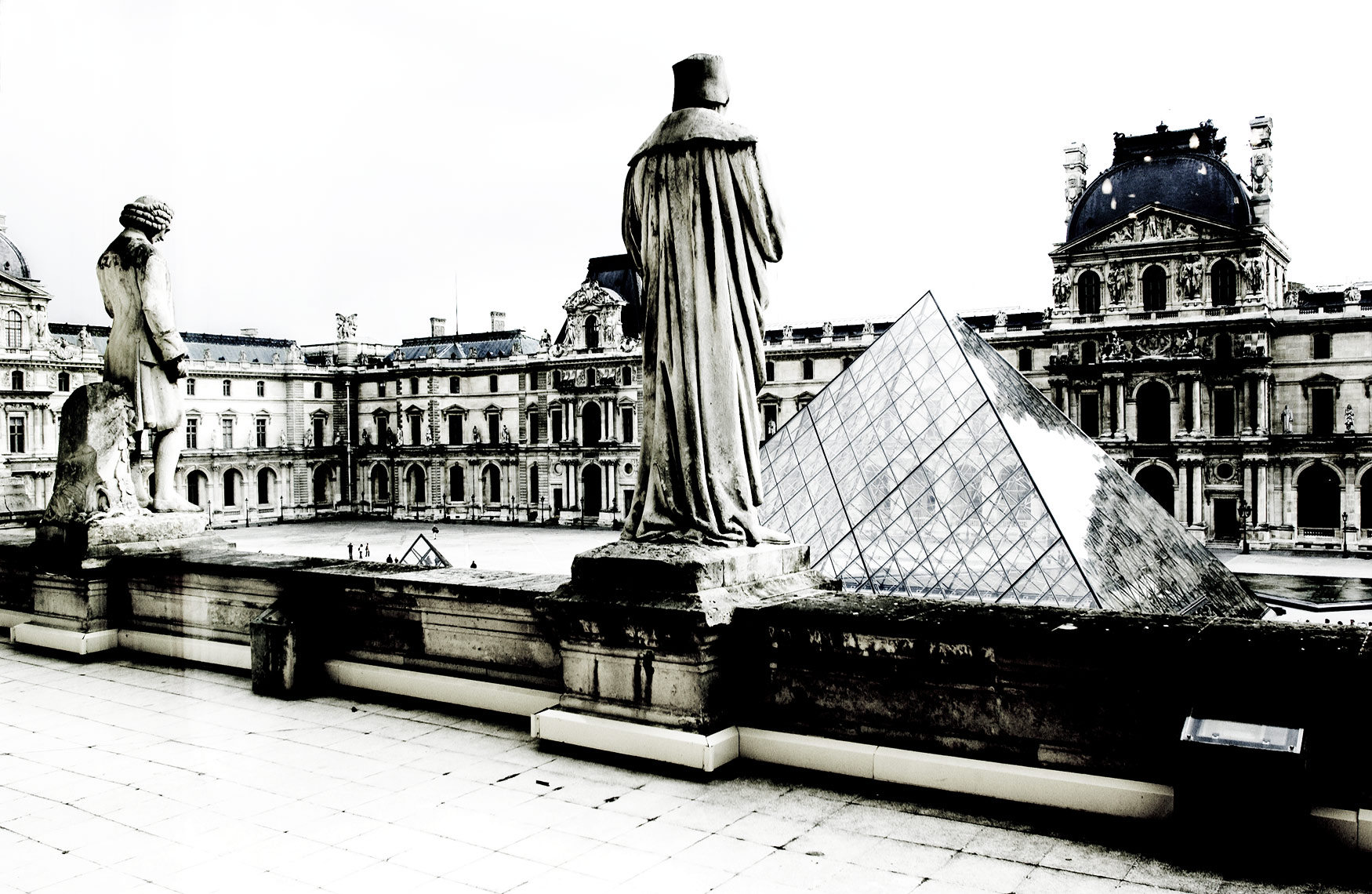 Louvre Museum courtyard